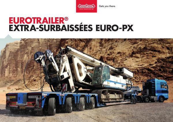 Nooteboom Documentation Francais Eurotrailer Extra surbaisseés Euro-PX