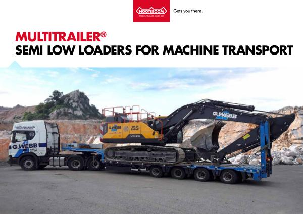 Nooteboom Documentation English OSD-7304 semi low loaders for machine transport