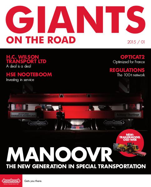 English - Nooteboom Giants on the Road Magazine English - Nr.1 - 2015