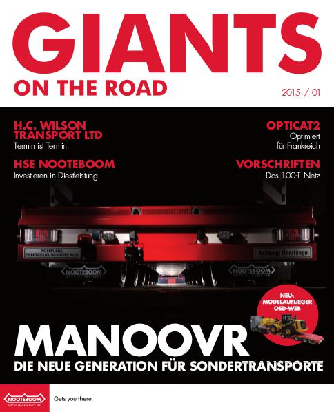 Deutsch - Nooteboom Giants on the Road Magazine Deutsch - Nr.1 - 2015