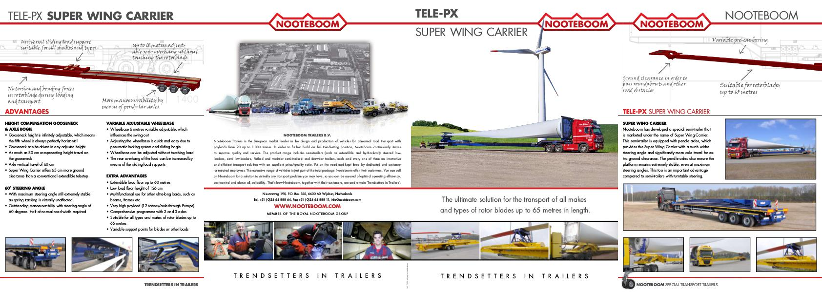 Nooteboom Documentation English Tele-PX Superwing carrier