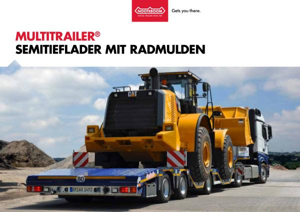 Nooteboom Dokumentation Deutsch Multitrailer OSDS mit Radmulden