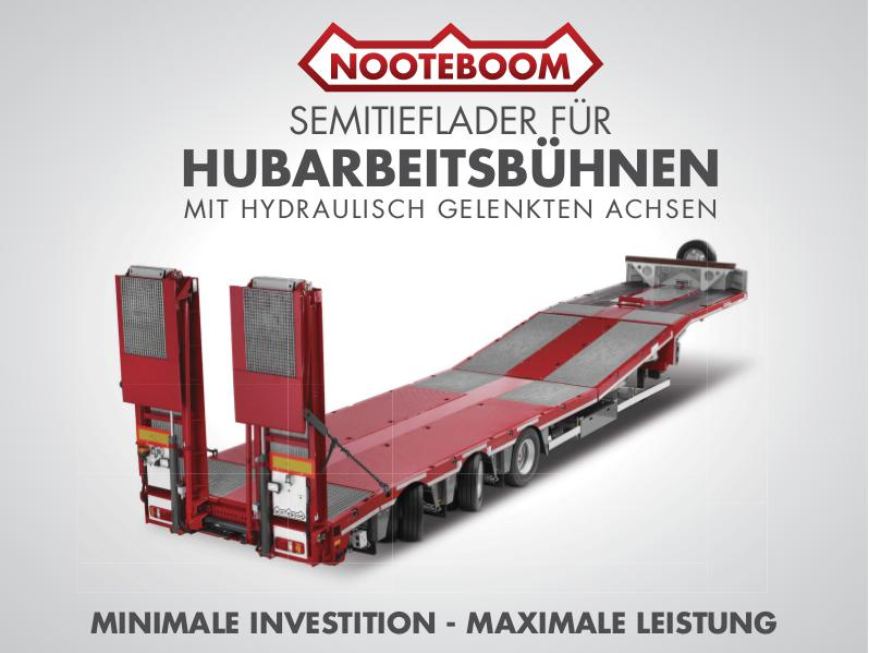 Nooteboom Dokumentation Deutsch Multitrailer MCOS für Hubarbeitsbühnen Transport