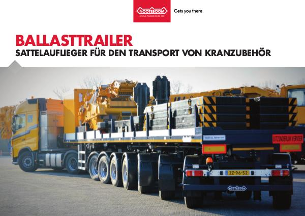 Nooteboom Dokumentation Deutsch Ballasttrailer