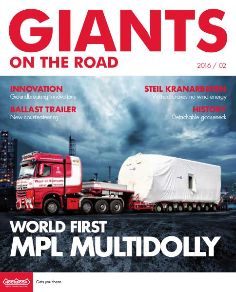 English - Nooteboom Giants on the Road Magazine English - Nr. 2 - 2016