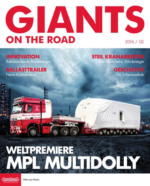 Deutsch - Nooteboom Giants on the Road Magazine Deutsch - Nr. 2 - 2016