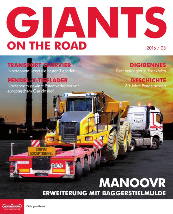 Deutsch - Nooteboom Giants on the Road Magazine Deutsch - Nr. 3 - 2016