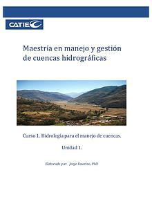 Unidad 1-Hidrología para el manejo de cuencas