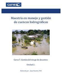 Unidad 2. Gestión de riesgos de desastres.