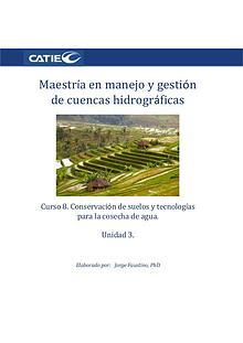 Curso- Conservación de suelos y tecnología de agua.  Unidad 3. Maest