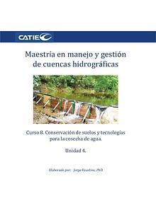 Curso- Conservación de suelos y tecnología de agua.  Unidad 4. Maestr
