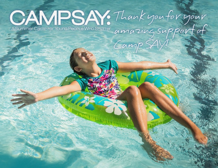 Thank You for Your Amazing Support of Camp SAY! CampSAY News