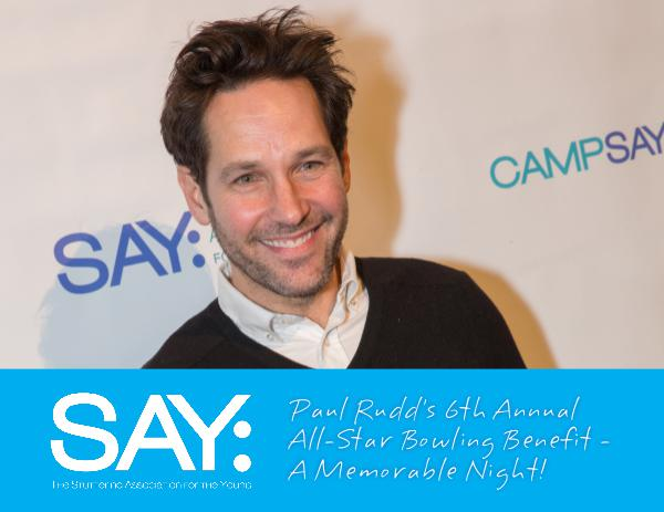 Paul Rudd's 6th Annual Bowling Benefit - A Memorable Night! January 2018