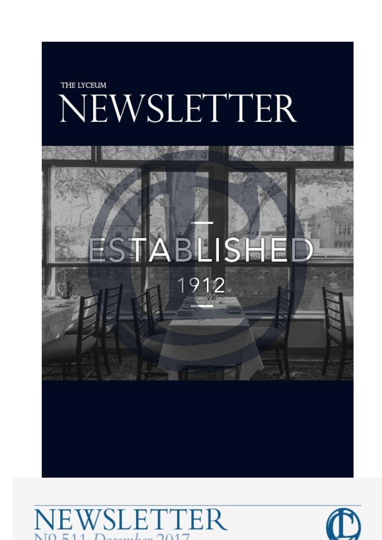March 2017 Newsletter December 2017