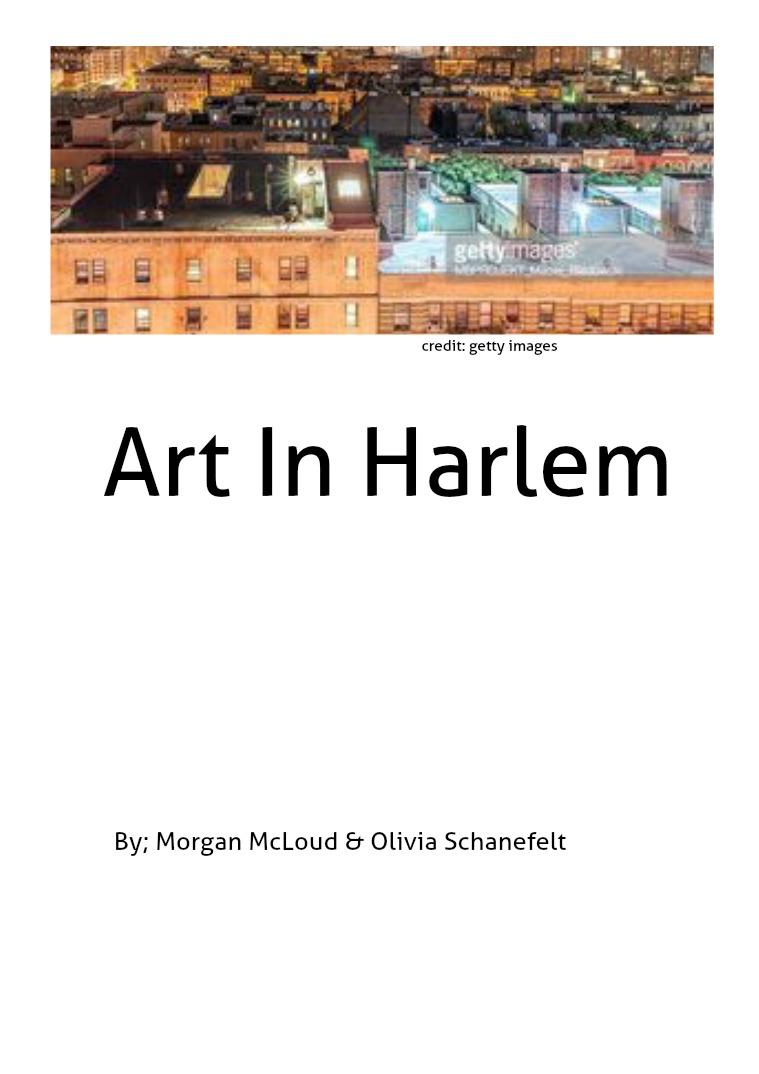 harlem project 1
