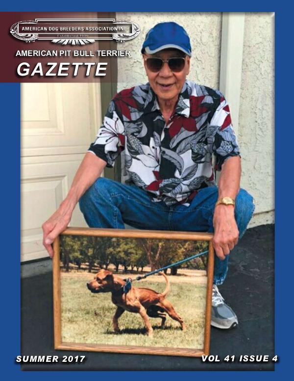 American Pit Bull Terrier Gazette Volume 41 Issue 4