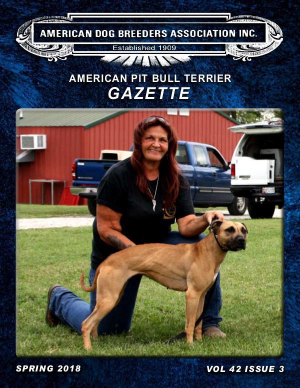 American Pit Bull Terrier Gazette Vol 43 Issue 3