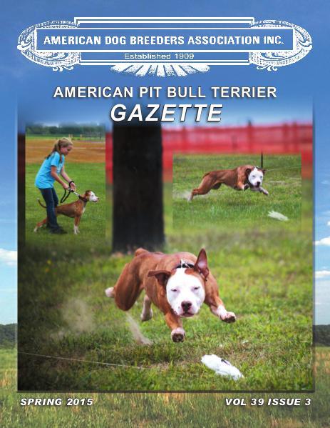 American Pit Bull Terrier Gazette Volume 39 Issue 3