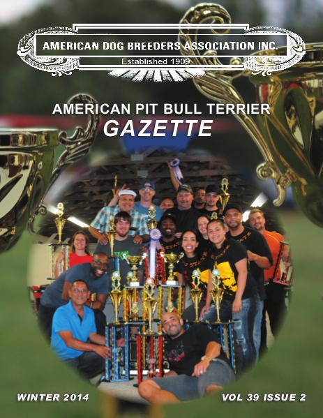 American Pit Bull Terrier Gazette Volume 39 Issue 2