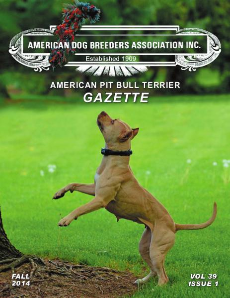 American Pit Bull Terrier Gazette Volume 39 Issue 1