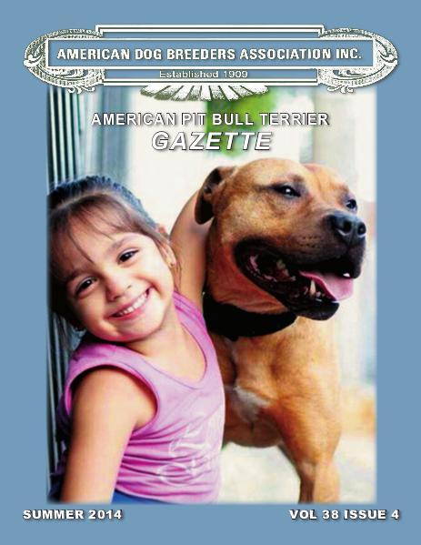 American Pit Bull Terrier Gazette Volume 38 Issue 4