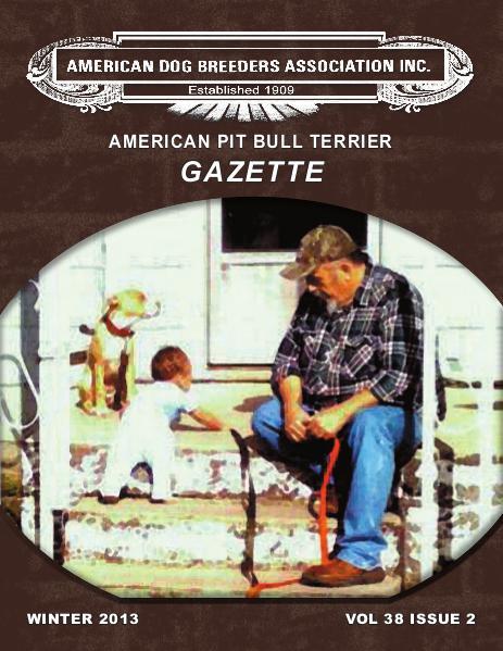 American Pit Bull Terrier Gazette Volume 38 Issue 2