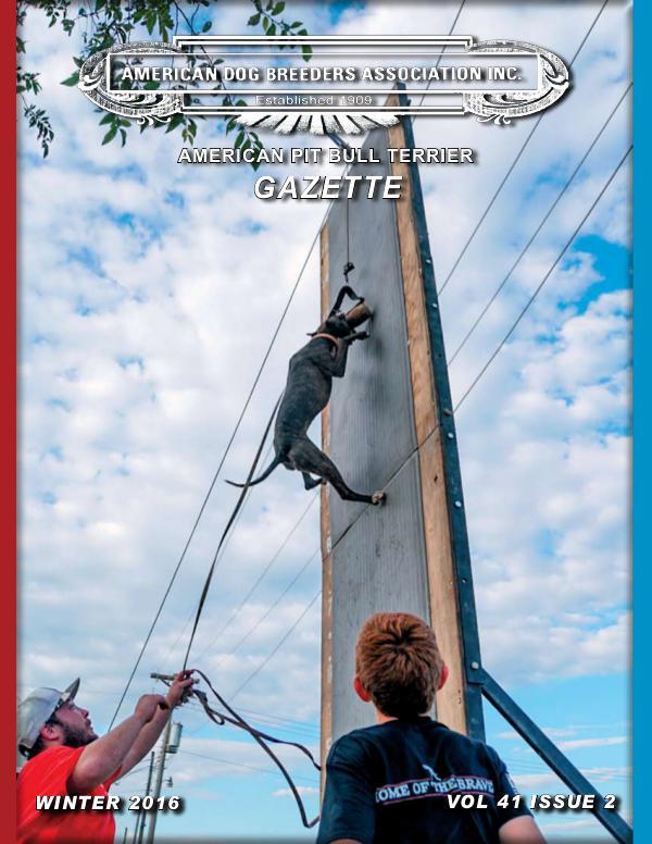 American Pit Bull Terrier Gazette Volume 41 Issue 2