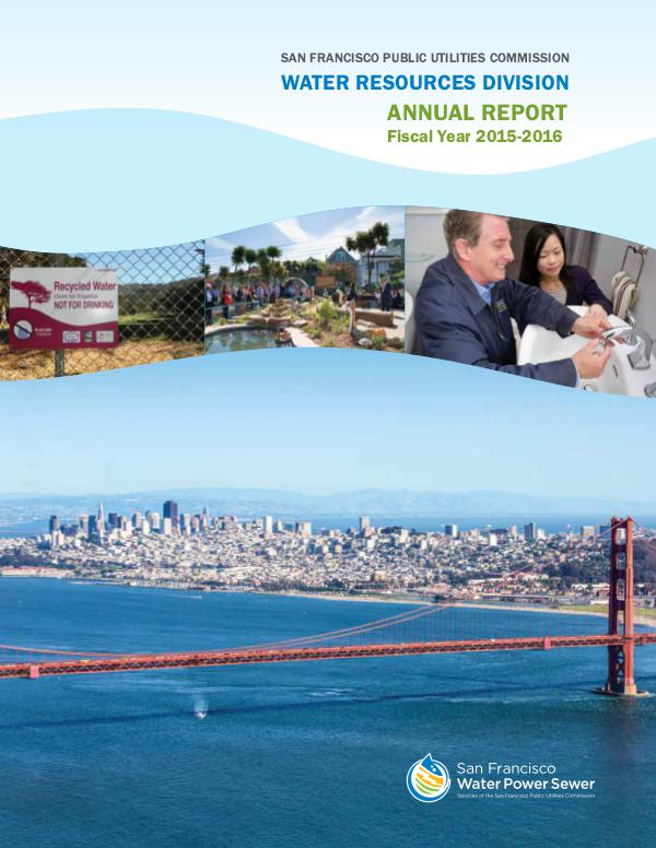 Water Resources Division Annual Report FY 2015-2016