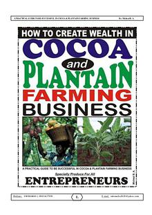 COCOA AND PLANTAIN BUSINESS (Guide)