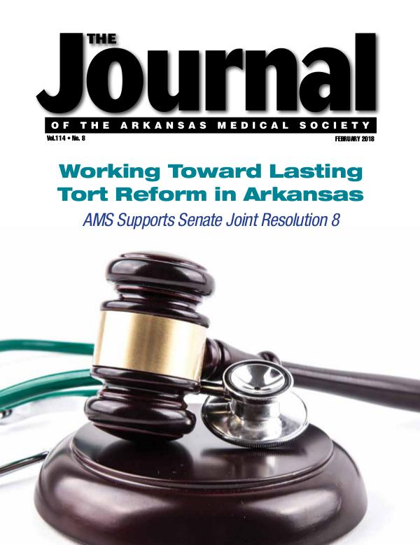 The Journal of the Arkansas Medical Society Issue 8 Vol 114