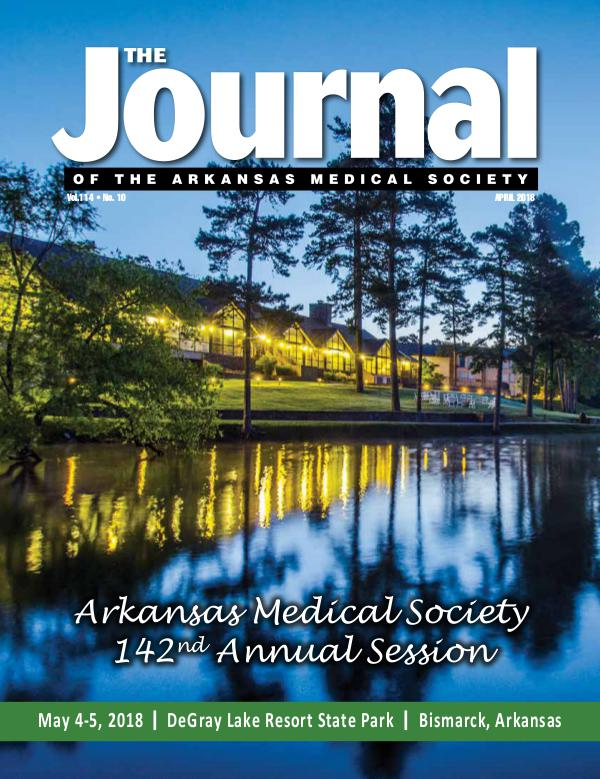 The Journal of the Arkansas Medical Society Issue 10 Vol 114