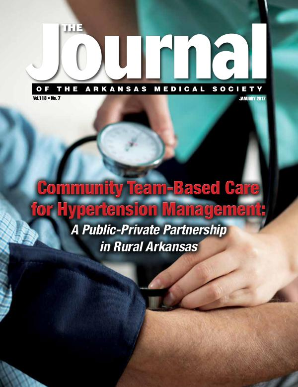 The Journal of the Arkansas Medical Society Issue 7 Volume 114