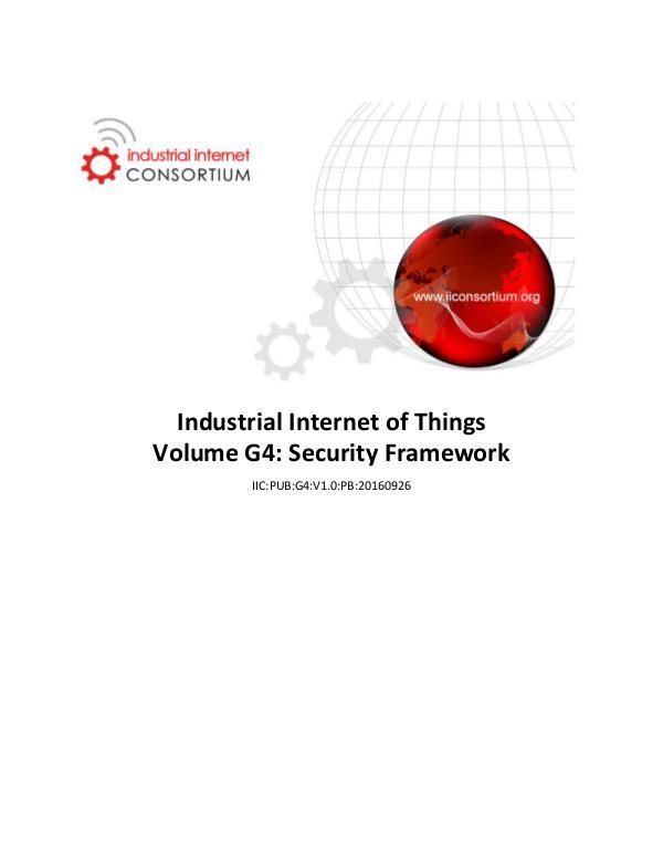 Industrial Internet Security Framework v 1.0