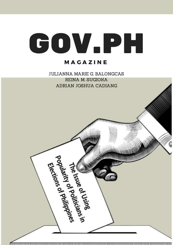 GOV.PH MAGAZINE Using Popularity of Politicians in The Philippine