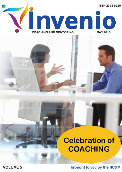 Invenio: Coaching and Mentoring May 2016 IIC&M