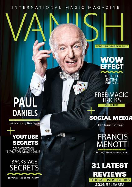 VANISH MAGIC BACK ISSUES Paul Daniels