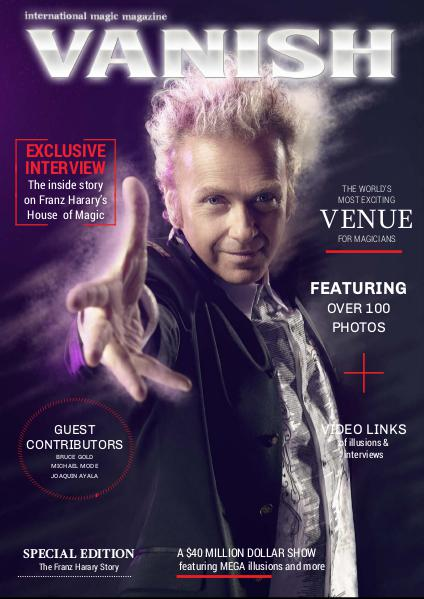 VANISH MAGIC BACK ISSUES Special Feature