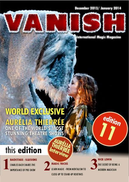 VANISH MAGIC BACK ISSUES Aurelia Thierree