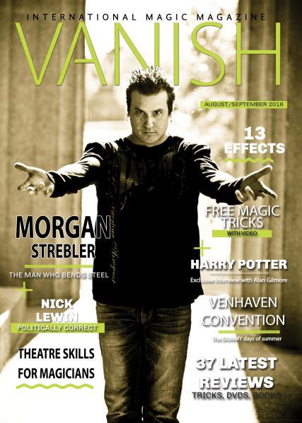 VANISH MAGIC BACK ISSUES Morgan Strebler edition