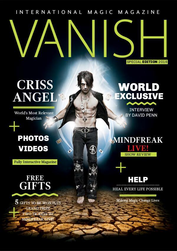 Vanish Magic Magazine CRISS ANGEL