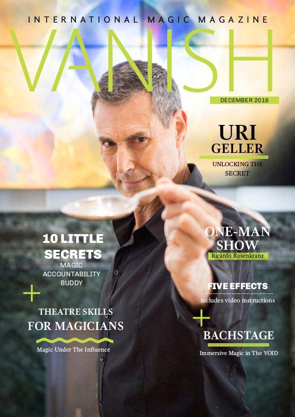 Vanish Magic Magazine Uri Geller Vanish 29