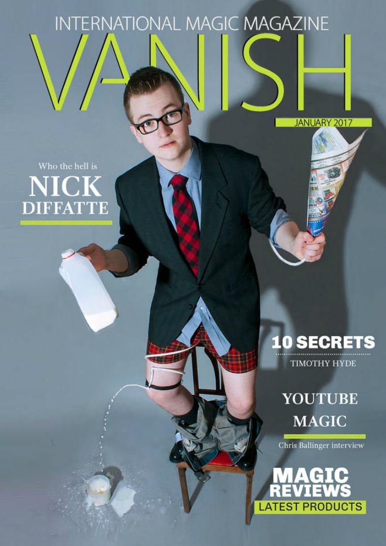 Vanish Magic Magazine Edition 30 Nick Diffatte feature story