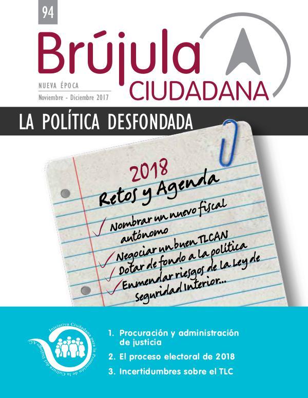 BRUJULA CIUDADANA Retos y agenda para 2018