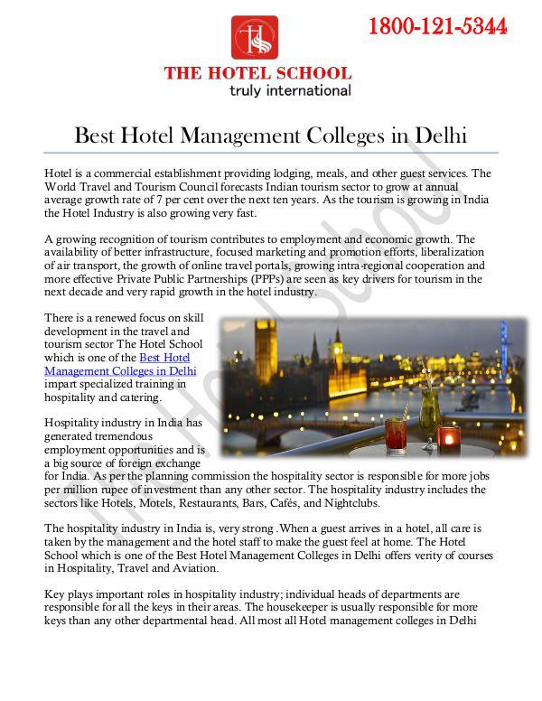 Best Hotel Management Colleges in Delhi Best Hotel Management Colleges in Delhi