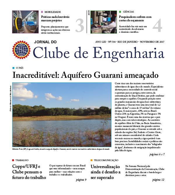 Jornal do Clube de Engenharia 584 (Novembro de 2017)