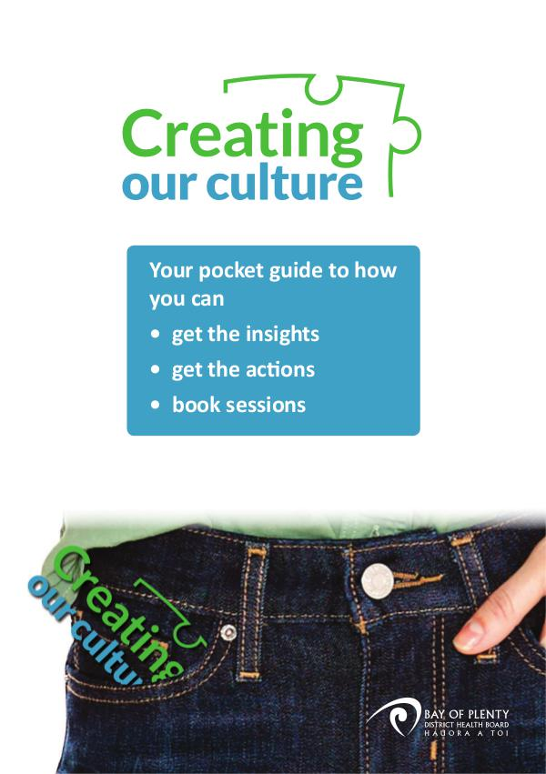 Creating our Culture Pocket Guide