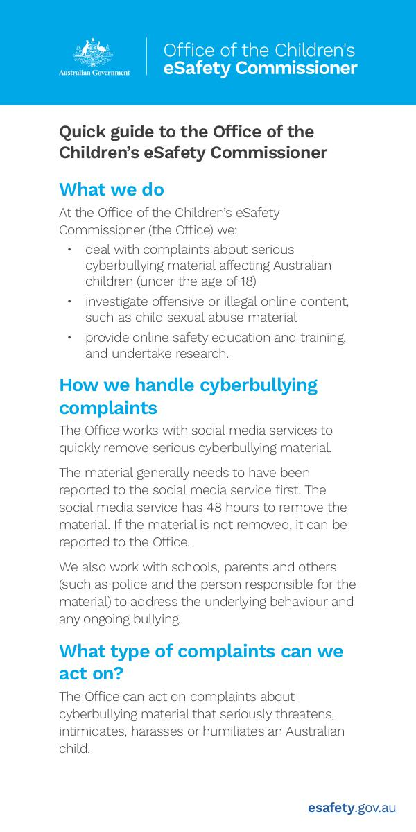 Quick guide eSafety