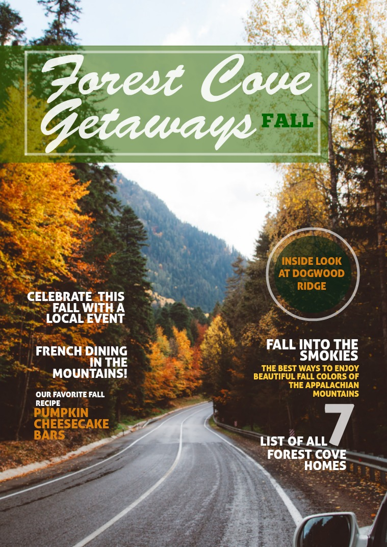 Forest Cove Getaways Fall 2018