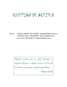 CUESTIÓN DE ACTITUD