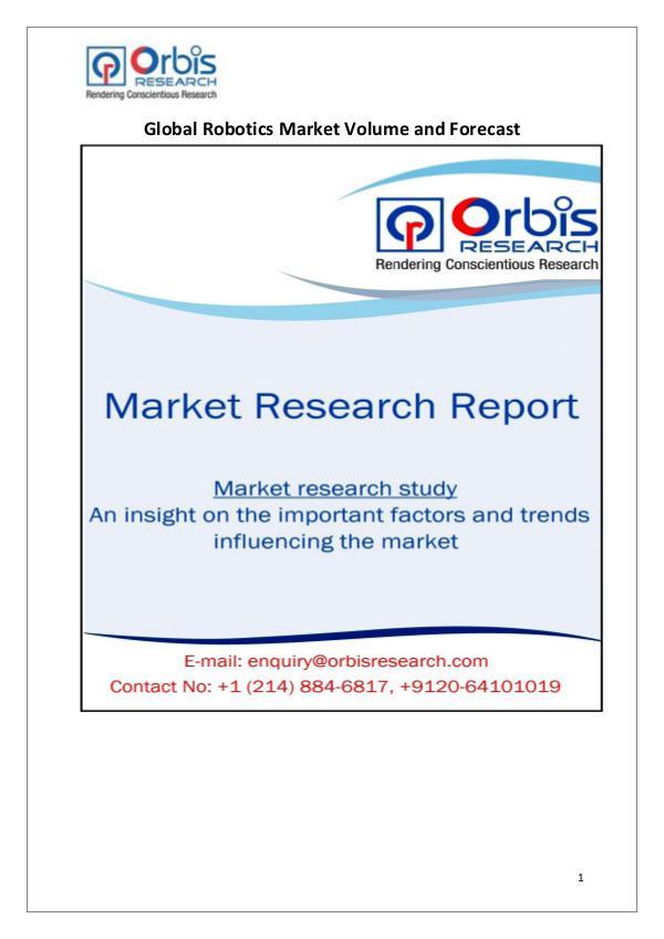 Industry Analysis Global Robotics Market Analysis & 2020 Forecast